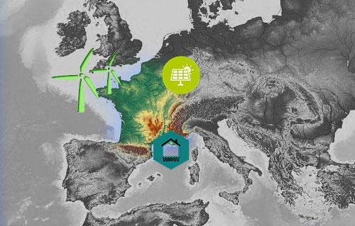 carte france energie