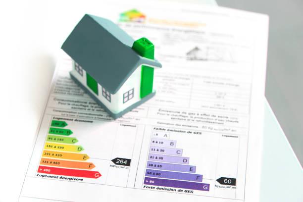 Document de l'audit énergétique avec la maquette d'une maison