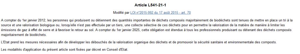 Article légifrance