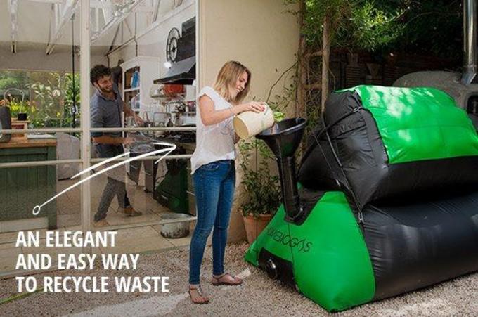 Publicité de l'entreprise HomeBiogas pour son méthaniseur domestique