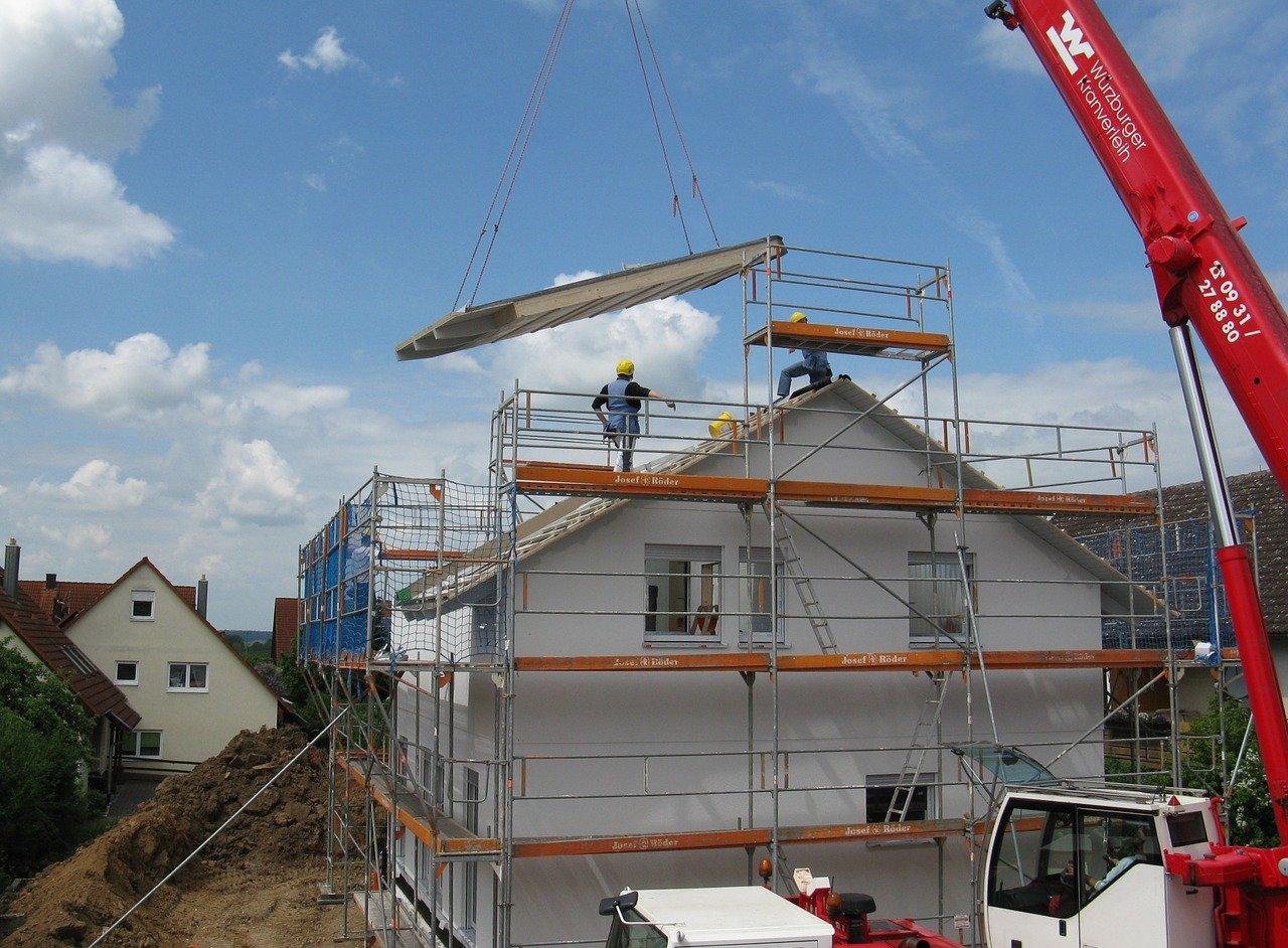 maison neuve en construction